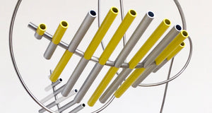 Floating Sculpture -  Yellow, White and Silver | Gregorio Siem | Sculpture