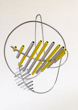 Load image into Gallery viewer, Floating Sculpture -  Yellow, White and Silver | Gregorio Siem | Sculpture