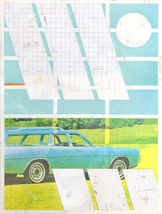 Blue Station Wagon | Kareem Rizk | Mixed Media
