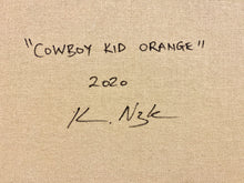 Load image into Gallery viewer, Cowboy Kid Orange  | Kareem Rizk | Mixed Media