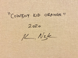 Cowboy Kid Orange  | Kareem Rizk | Mixed Media