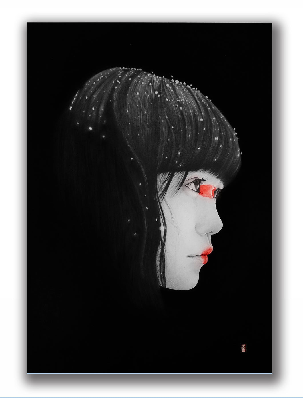 'Snow 1 - Darkness Series' | Lantomo | Drawing