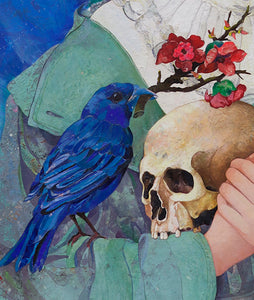 'Blue Bird' | Minas Halaj | Painting