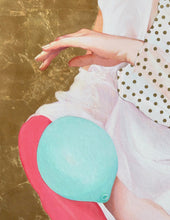 Load image into Gallery viewer, 'Girl with Balloons' | Minas Halaj | Painting