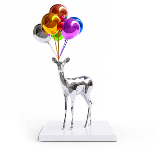 Bunch of Balloons Bambi (Silver) | Paco Raphael | Sculpture