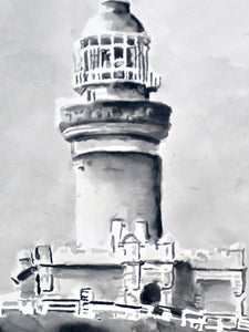 'Lighthouse Study 7' | Rikki Kasso | Painting