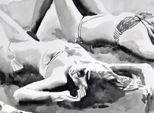 'Sleep and Sand Study' | Rikki Kasso | Painting