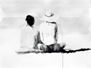 'Vacation Couple Study' | Rikki Kasso | Painting