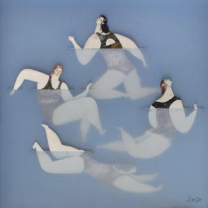 'The Swimmers III (The Gathering)' | Sonia Alins | Painting