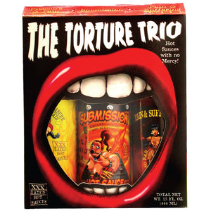 The Torture Trio XXX Rated Hot Sauce