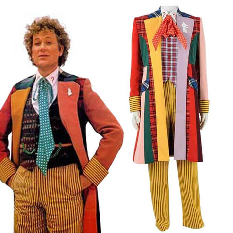 6th Doctor Colorful Lattice Jacket