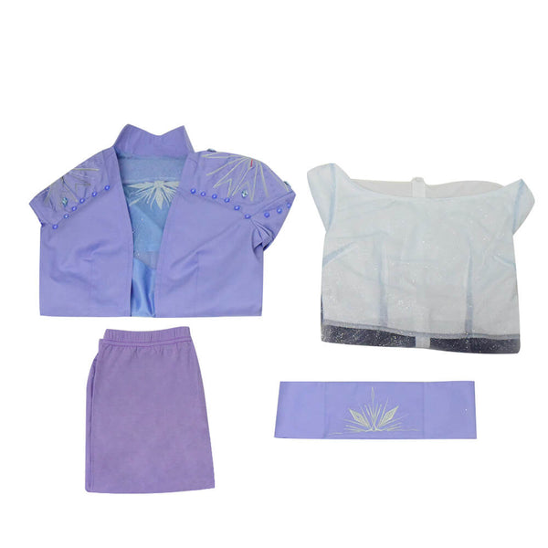 Disney Frozen 2 Queen Elsa Dress Cosplay Costume