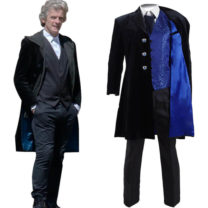 Doctor Who 12th Dr Mysterio Cosplay Costume Velvet Coat For Sale - ACcosplay