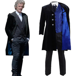 Doctor Who 12th Dr Mysterio Cosplay Costume Velvet Coat For Sale