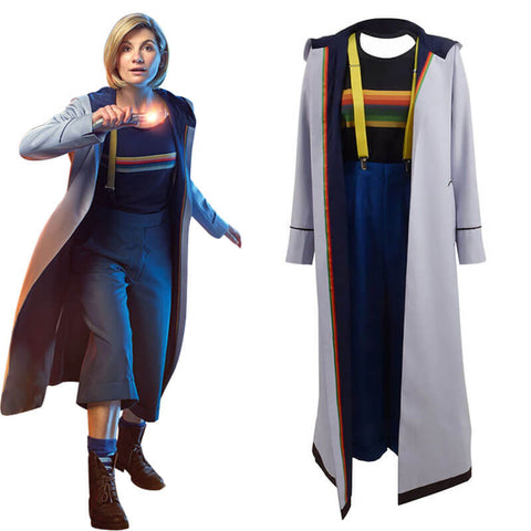 Doctor Who 13th Doctor Long Trench Coat Cosplay Costume