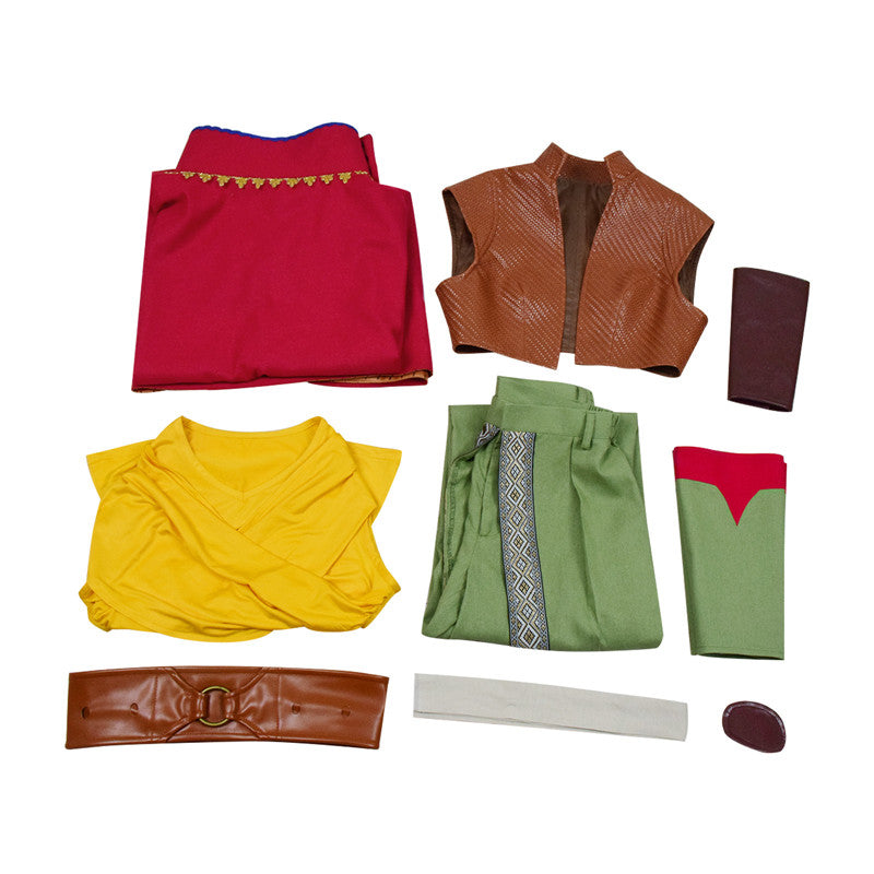 Raya and The Last Dragon Raya Cosplay Costume Cape Suit Full Set Outfit