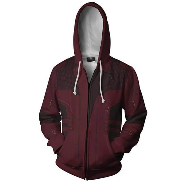 2018 3D Printed Star Lord Infinity War Sweatshirts Hooded Jacket