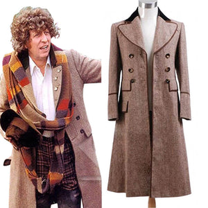 Doctor Who Fourth 4th Doctor Brown Coat Costume For Halloween