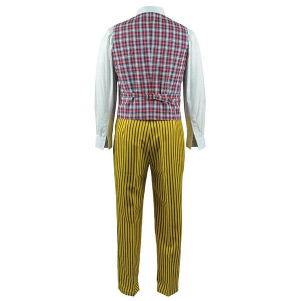 Doctor Who sixth 6th Doctor Colorful Lattice Jacket Coat Suit Cosplay Costume