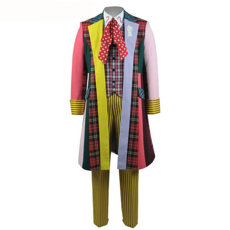 Doctor Who sixth 6th Doctor Colorful Lattice Jacket Coat Suit Cosplay Costume - ACcosplay