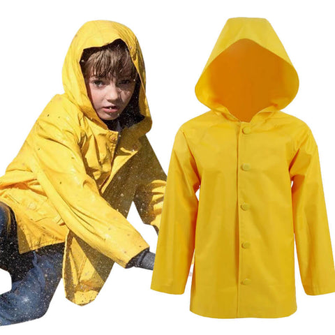Stephen King's It Georgie Denbrough Yellow Raincoat Jacket Cosplay Costume