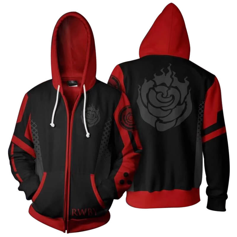 2019 Anime RWBY Season One 3D Sweatshirt Zip Up Hooded Jacket Coat - ACcosplay