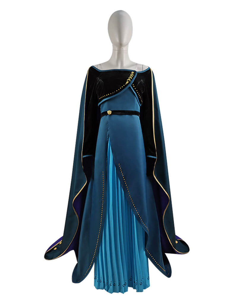 Disney Frozen 2 Anna Queen Dress Cosplay Costume For Adults ACcosplay - ACcosplay