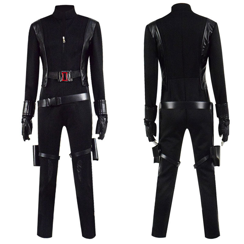Avengers Black Widow Natasha Romanoff Black Jumpsuit Halloween Cosplay Costume - ACcosplay