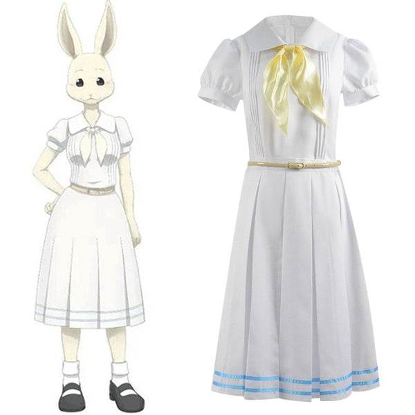 ACcosplay Beastars Haru White Dress Cosplay Costume 2019