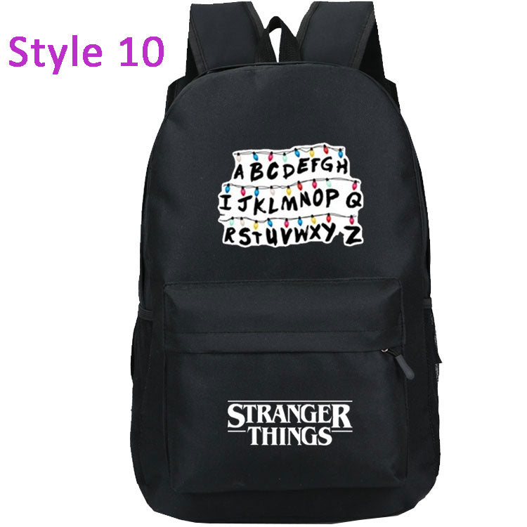 Classic Plain Stranger Things Backpack School Bag For Boys Girls - ACcosplay
