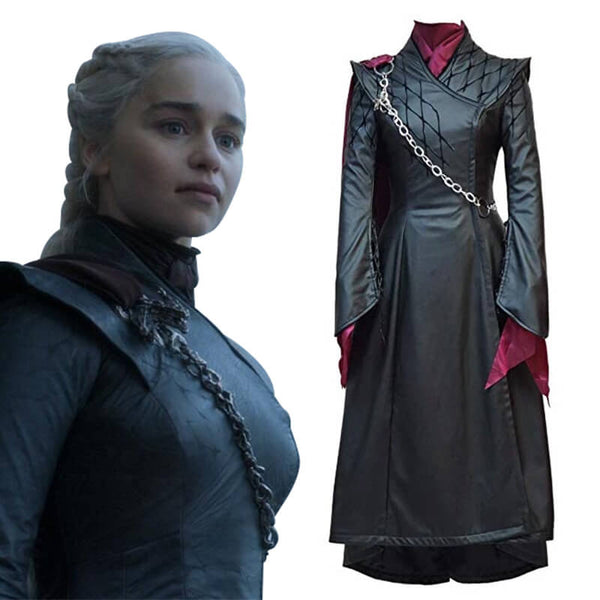 Game of Thrones 8 Women Halloween Queen Daenerys Costume Dress Cosplay Outfit