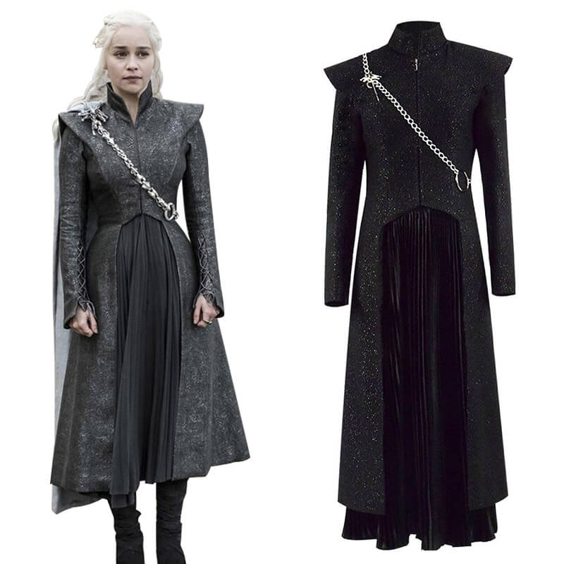 Game of Thrones Costume Mother of Dragons Daenerys Targaryen Queen Dress Suit - ACcosplay