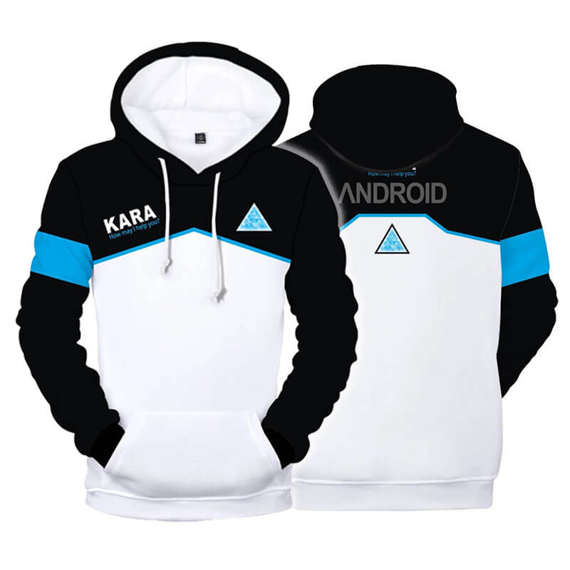 Detroit Become Human 3D Hoodie Printed Zipper Sweatshirt Jacket Cosplay ACcosplay - ACcosplay