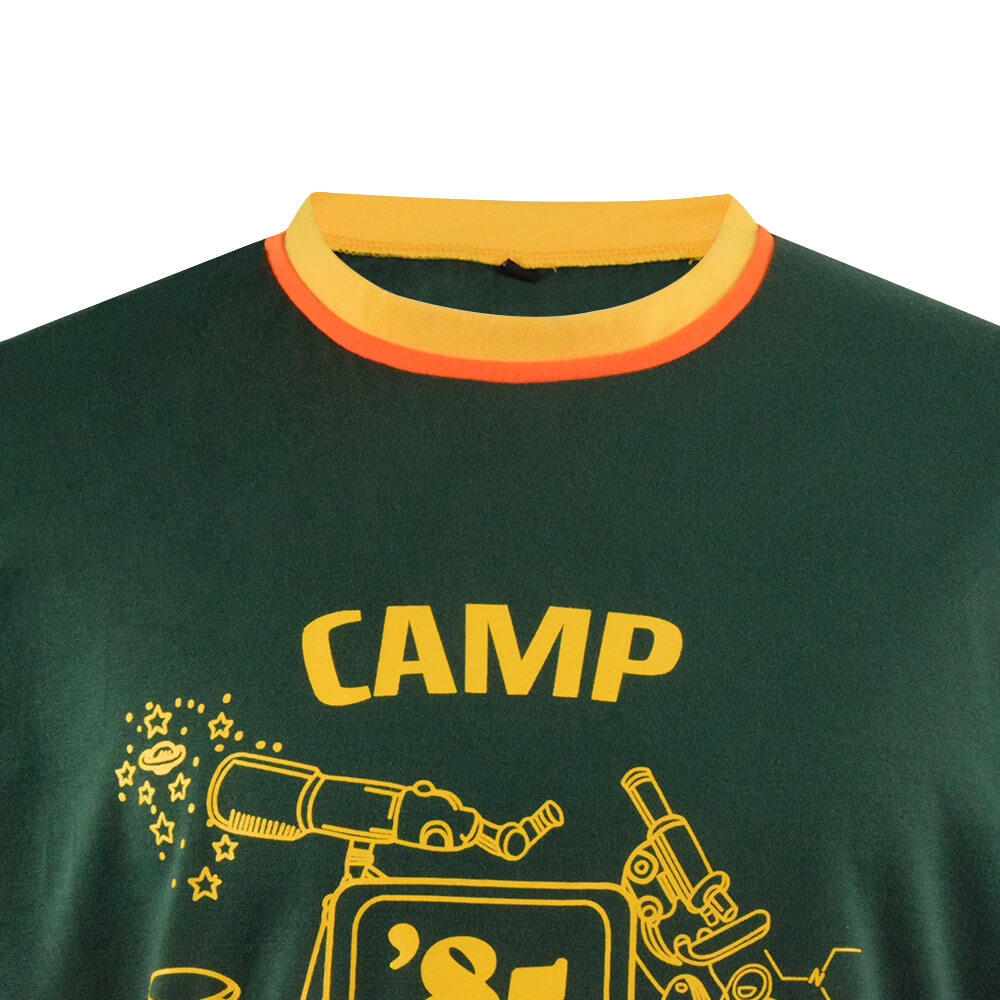 Stranger Things Dustin Shirt Camp Know Where Ringer Tee For Kids/Adults - ACcosplay