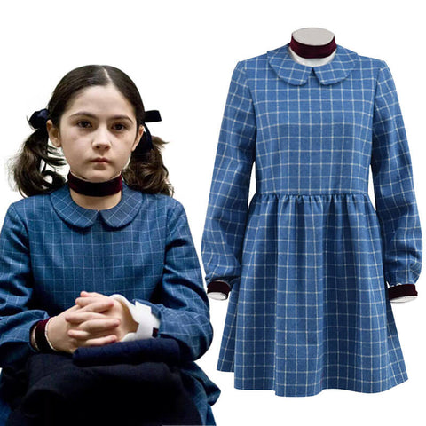 Girls Halloween Costume Esther Orphan Blue Plaid Dress Adults Women Cosplay - ACcosplay