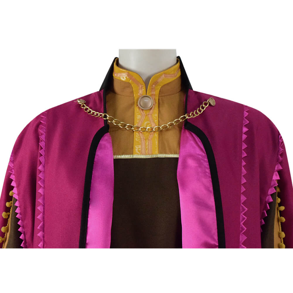 Halloween Frozen 2 Princess Anna Cosplay Costume For Adults - ACcosplay
