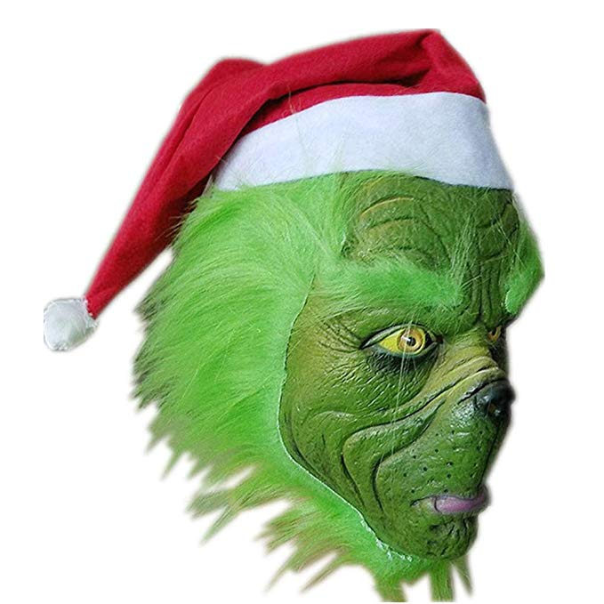 The Grinch Hoodie Shirt Mask Sweatshirt Suit Jumpsuit Cosplay Costume Kids Children - ACcosplay