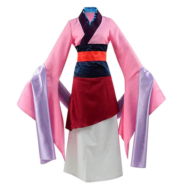 Chinese Heroine Hua Mulan Dress Princess Women Halloween Outfit Cosplay Costume