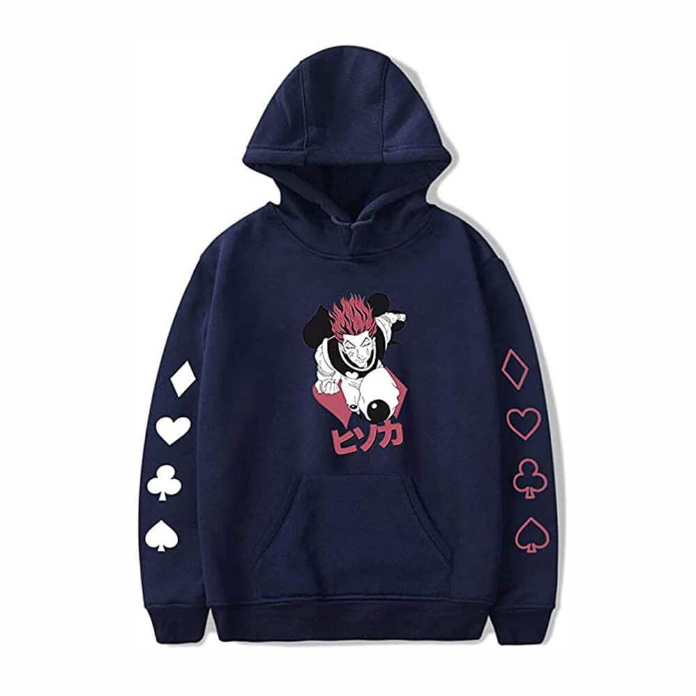 Hunter X Hunter Hisoka Hoodie Sweatshirt Printed Hooded Pullover Sweater Cosplay Costume