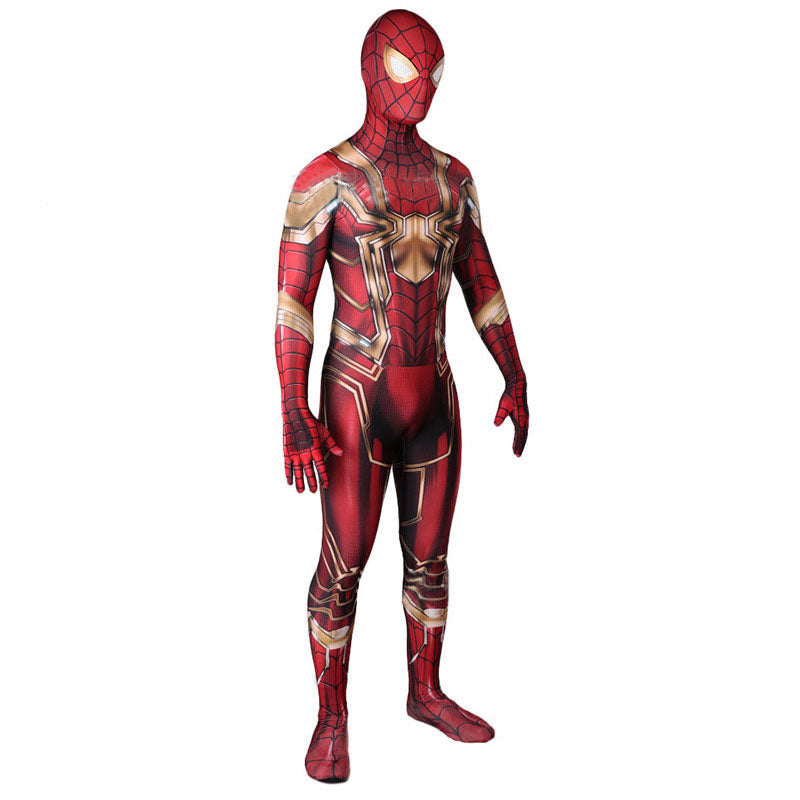 Infinity Iron Spider-Man Bodysuit Zentai Halloween Cosplay Costume - ACcosplay