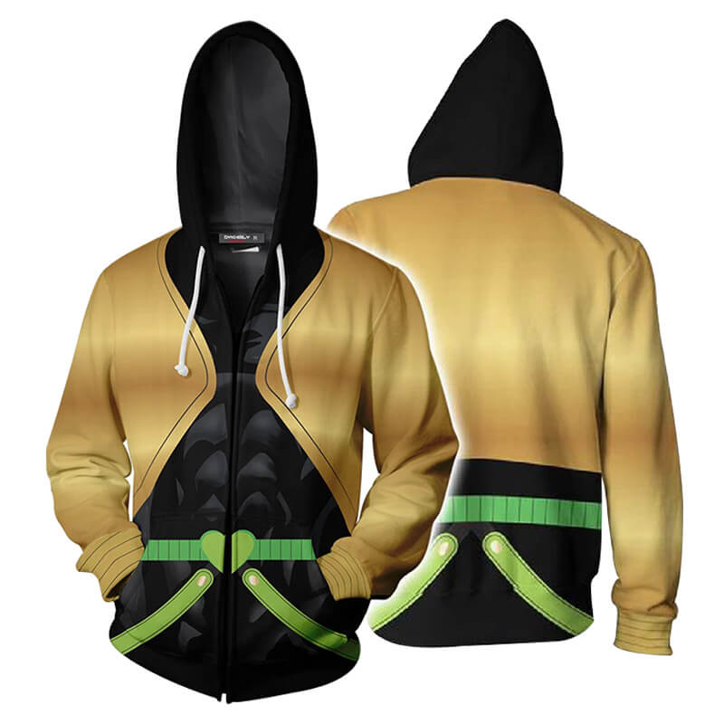 JoJo's Bizarre Adventure Jotaro Kujo Sweater 3D Printed Zipper Coat Jacket Hoodie - ACcosplay