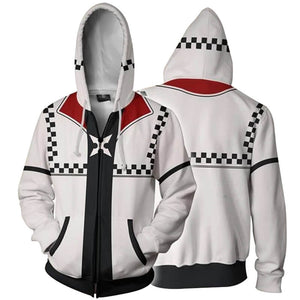 Kingdom Hearts Riku Sweatsh 3D Printed Cardigan Anime Hooded Jacket - ACcosplay