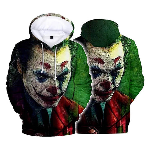 Knight Joker Hoodie Costume Killer Sweatshirt Halloween Cosplay Hooded Pullover Jacket - ACcosplay