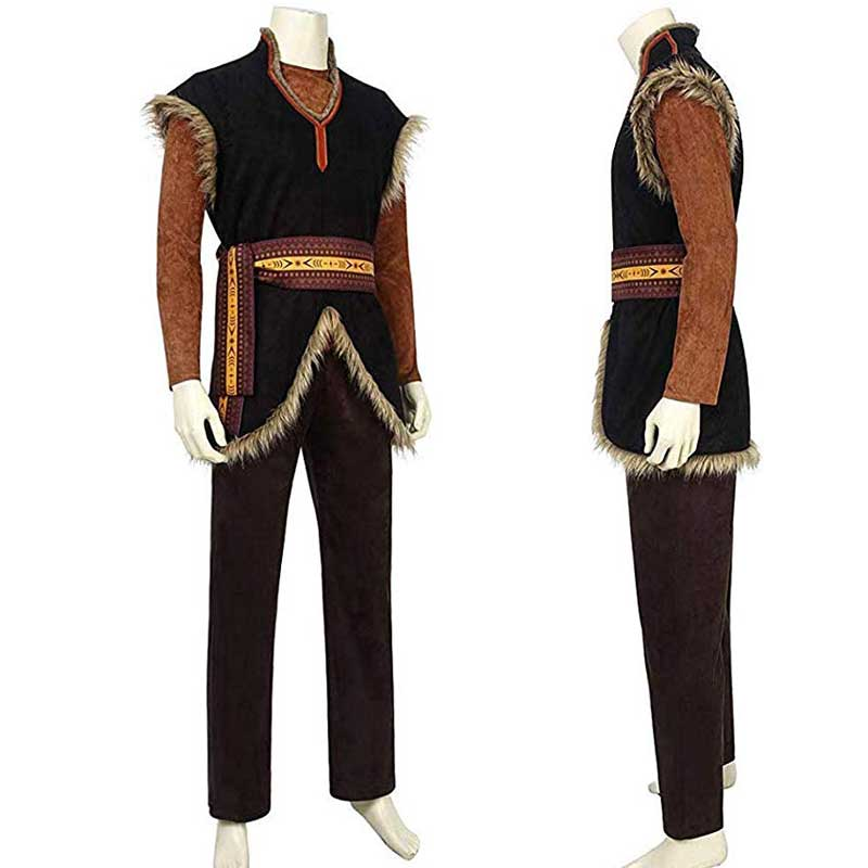 ACcosplay Frozen Kristoff Cosplay Costumes Mens Halloween Outfit - ACcosplay