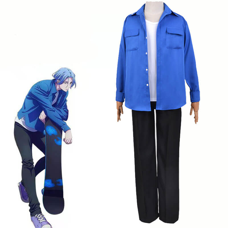 Langa Cosplay SK8 the Infinity SK∞ Uniform Blue Cosplay Costume