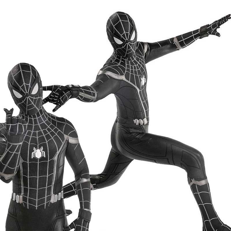 Marvel Spider-Man:Homecoming Black Jumpsuit Cosplay Costume
