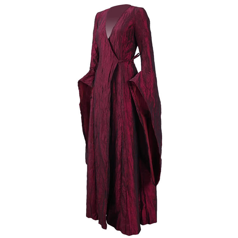 Game of Thrones Melisandre Red Long Dress Cosplay Costume Women Halloween Outfit - ACcosplay