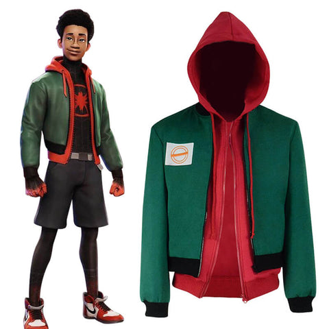 Spider-Man: Into the Spider-Verse Miles Morales Pollover Jacket Costume - ACcosplay
