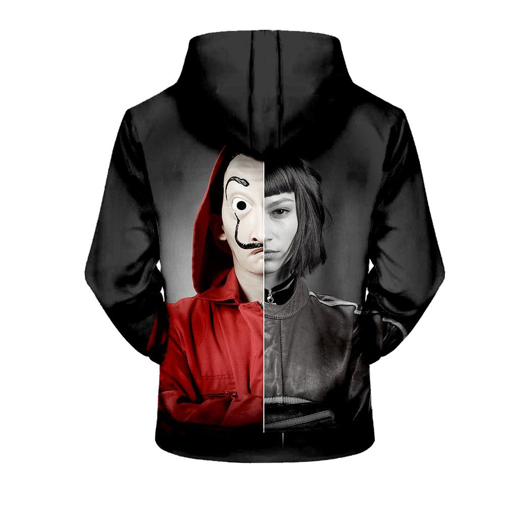 La Casa De Papel Money Heist Unisex Stylish 3D Printed Hoodie Shirt Sweatshirt Jacket - ACcosplay
