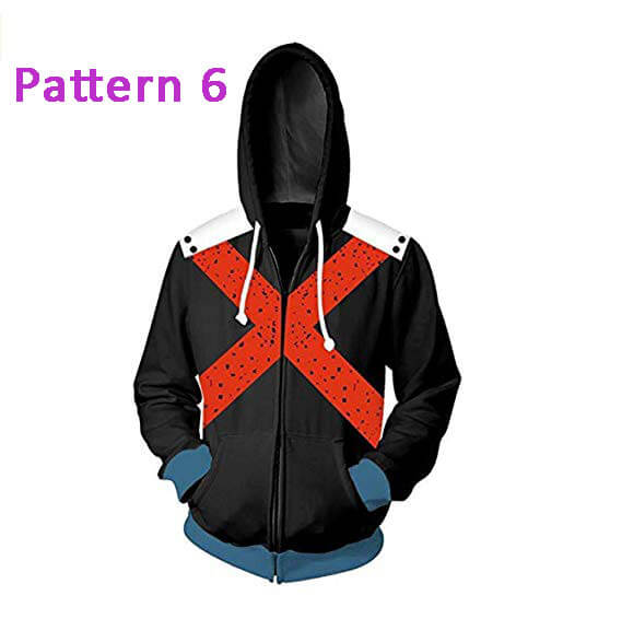 Boku No My Hero Academia Hooded 3D Hoodie Printed Jacket Pullover Sweatshirt Unisex - ACcosplay